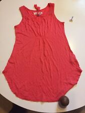 NWT Women's Old Navy Coral Sleeveless Loose Fit Tunic Maternity Top Size XS