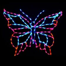 NEW Springtime Bright Butterfly Outdoor LED Lighted Decoration Steel Wireframe