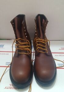 """Red Wing Supersole 8"""" Steel Safety Toe Boot Brown Oil Resistant 2233 Men Size 12"""