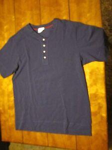 Men's Sleepwear Top, Color Navy, Size Medium.