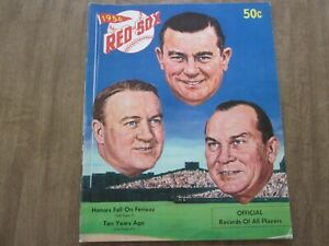 1956 Boston Red Sox Team Issued Baseball Yearbook