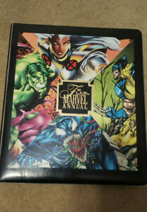 1995 Marvel Flair Annual Trading Card Binder with 3 Ultra Prints Fleer No Cards