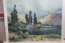 "Large Vintage Lithograph  Print ""Morning Mist"" By Jack Milkinson Smith"