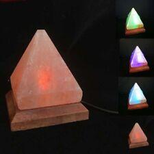 LED Himalayan Pyramid Air Purifier Salt Lamp Ionic Rock Crystal Night Light