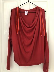 Zumba Long Sleeve Cold Shoulder Hoodie Size M