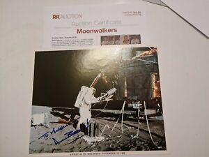 Original Autogramm ☆Alan L. Bean NASA Astronaut Apollo 12 Großfoto zertifiziert
