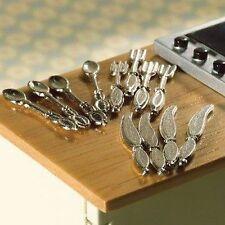 CASA delle Bambole Miniatura Set di posate accessori cucina ~ ~ ~ sala da pranzo - 1:12