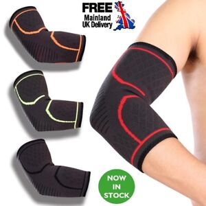 UK Elbow Brace Support Compression Sport Sleeve Tennis Golfer Arthritis Pain Gym