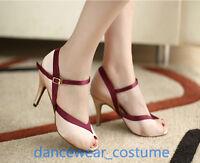 Ladies Party Ballroom Latin Tango Rumba Salsa Dance Shoes Heels Sandals EU34-42