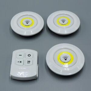 LED-Lampen 3er Set - 3 COD LED-Lampen selbstklebend mit IR-Fernbedienung