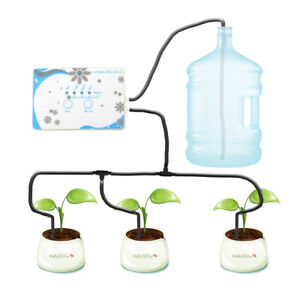 Drip irrigation Pump Automatic watering Set Plant Timer Garden Water system Kits