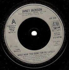 """Janet Jackson? qué has hecho por mí últimamente 7"""" Vinyl Record A&M 1986 ex"""