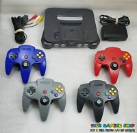 Nintendo 64 N64 Console System New Controllers *LIKE NW * RECONDITIONED IN & OUT