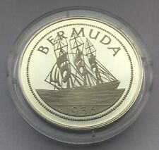 Bermuda Large  Crown 1936 silver Edward VIII   sailboat