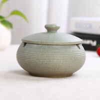 Ceramic Ashtray with Lids Windproof Cigarette Ashtray Indoor Use Light Blue