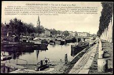 cpa 71 Chalon-sur-Saône . vue sur le canal et le port . 1911