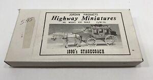 HO HOn3 HOn30 Jordan 1890s Stagecoach Kit