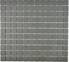 Mosaik Fliese Keramik grau quadratisch uni metall WB18-0222-R10 1 Matte