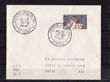 ec64/ Enveloppe   expo philatélique  cigne  le Blanc     1964