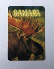 Souvenir Vintage Canada Moose Playing Swap Card Antlers Animal