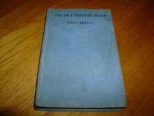 ENID BLYTON-FIVE ON A TREASURE ISLAND-1ST-SIGNED-1942-HB-G-H & S-MEGA RARE