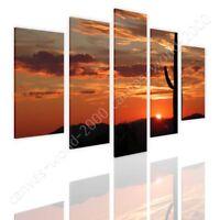 Arizonas Landscape by Split 5 Panels | Ready to hang canvas | 5 Panels Wall art