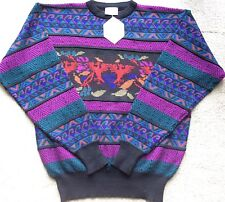 MEN'S VINTAGE BNWT~MEISTER ABRAZO AZTEC MULTI COLOR SOFT DURABLE WINTER SWEATER
