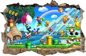 WALL STICKERS HOLE IN THE WALL  MARIO BROS decorative sticker to the room 20