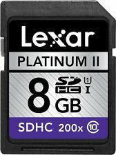 Lexar 200X 8GB 8G SD SDHC Class 10 C10 UHS-I Memory Card For Camera DSLR 30M/s