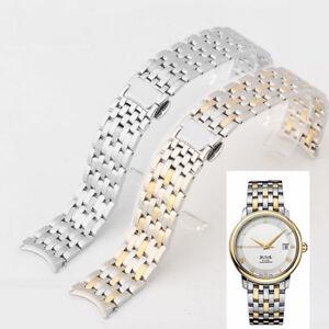 20mm or 19mm S/ Steel bracelet strap band (fits) Omega De ville silver gold CLRs