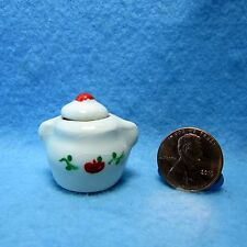 Dollhouse Miniature Cannister with Apple Design ~ Hand Crafted