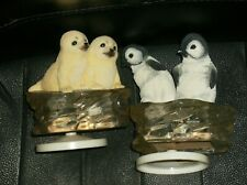 PENGUINS AND SEALS ON ICE. 2 MUSIC BOXES