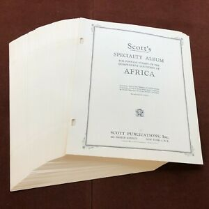 Independent Countries of Africa SCOTT SPECIALTY Stamp Album Pages