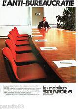 PUBLICITE ADVERTISING 036 1978  les mobiliers de bureau Strafor **