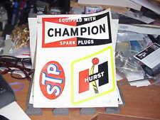 "HURST, STP, Champion, Water Transfer Decal sheet  9"" x 7 3/4""  VINTAGE 1960s"
