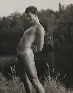1989 Vintage BRUCE WEBER Young Nude Male Model ROB Canoe Lake Photo Gravure Art