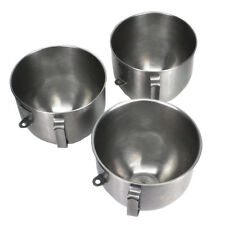 (Lot of 3) 5-Quart Stainless Steel Mixing Bowls for Lift Stand Mixers 8-3/8 x 7""