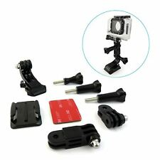 NEW Curved Adhesive Helmet Front Mount & Side Mount For Gopro Hero 7 6 5 4 3 2