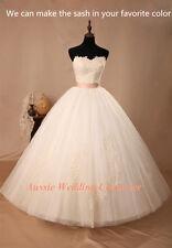 Custom Make Debutante Dress Formal Gown Bridal Wedding Deb Avail in all Colours