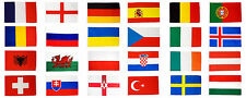 More details for euro 2016 flags set large 5 x 3 ft - full pack all 24 countries european uefa ie