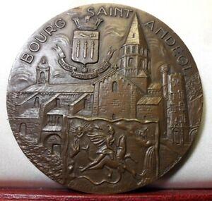 1975 Medaille 81mm bronze par Torcheux Ardèche bourg saint andeol