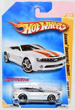 HOT WHEELS 2008 NEW MODELS CAMARO CONVERTIBLE CONCEPT WHITE W+