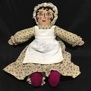 Vintage Rag Doll with tapestry face 42cm tall Cloth Doll Toy