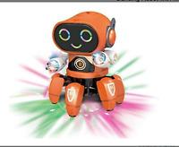 Intelligent Dancing Robot/Music Gesture-Sensing/six legged/ Smart Robot (ORANGE)