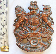 Military Victorian Royal Artillery New Zealand Force Helmet Badge Plate (3448)