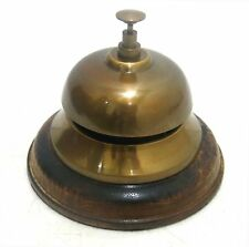 Brass Bell Antique Desk Hotel Counter Bell Office Vintage Service Bell 5""