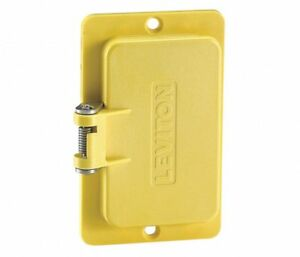 Leviton 3061-Y Yellow One-Gang Decora Flip Lids for use with Rubber Box