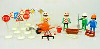 Playmobil Klicky Spielset aus 3313 Baustelle Arbeiter Schilder Werkzeug Vintage