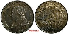 GREAT BRITAIN Victoria Silver 1893 1 Shilling 1st Year Type Toning KM# 780