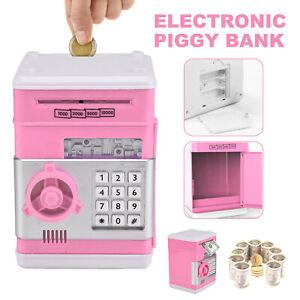 Piggy Bank Safe Money Box Bank Electronic Password Lock ATM Cash Coin Kids Gift